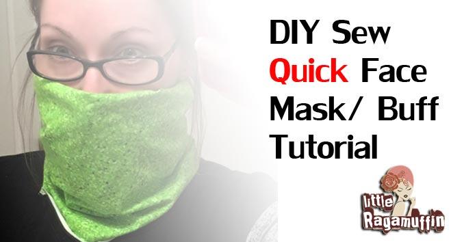 Inadecuado Molester Audaz  DIY Sew Quick Face Mask aka Buff or GaitersTutorial Instructions