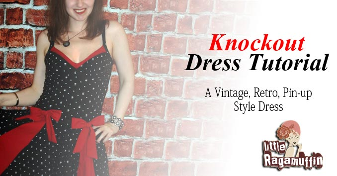 DIY sewing tutorial vintage retro inspired pin-up style dress