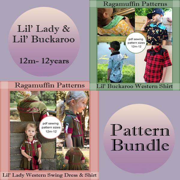 Ragamuffin Patterns Western Kids Bundle Little Ragamuffin