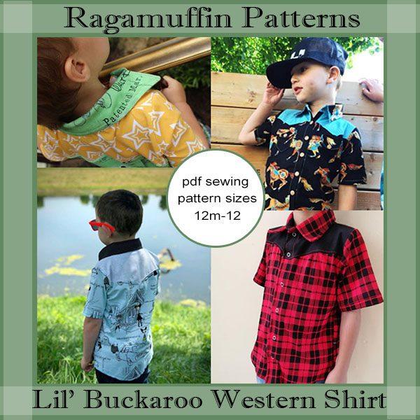 Ragamuffin Patterns Lil Buckaroo Boys Western Shirt Little Ragamuffin